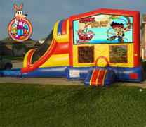 Jake and the Neverland Pirates Module 5 in 1 Waterslide Bouncehouse Combo